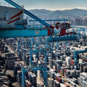 Boicot de los Estibadores europeos al barco que Maersk desvio de Algeciras a Tanger.